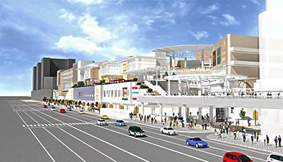 阿倍野再開発A1地区A2棟の完成予想図