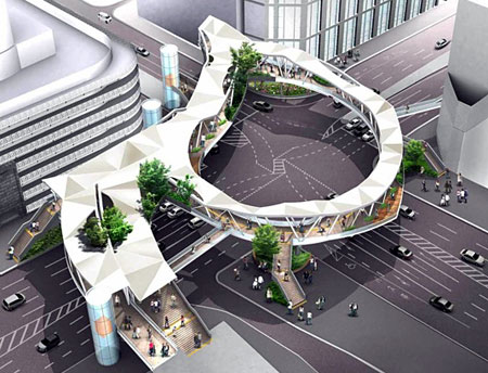 阿倍野歩道橋 パース