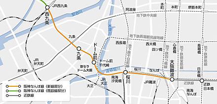 阪神なんば線 路線図