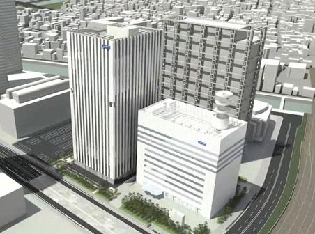 KDDI大阪第2ビル(TELEHOUSE OSAKA 2) 完成予想パース