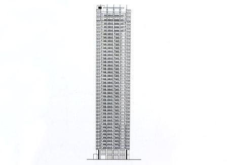 (仮称)大阪市中央区北浜東計画 立面図