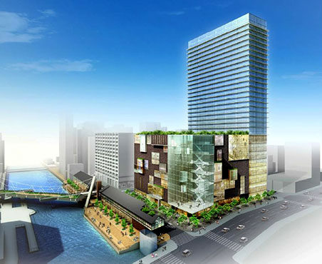 住友倉庫 南堀江A地区複合施設計画 完成予想図