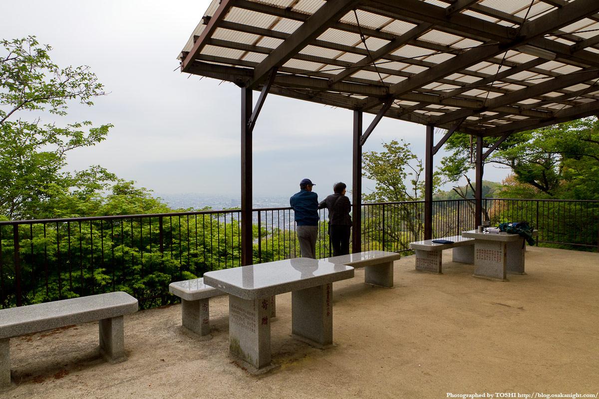 水呑地蔵院から見た大阪の高層ビル群