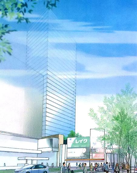 精華小学校跡地再開発計画 2013年8月案 01