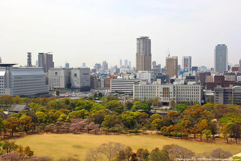 大阪城から見た大阪府庁