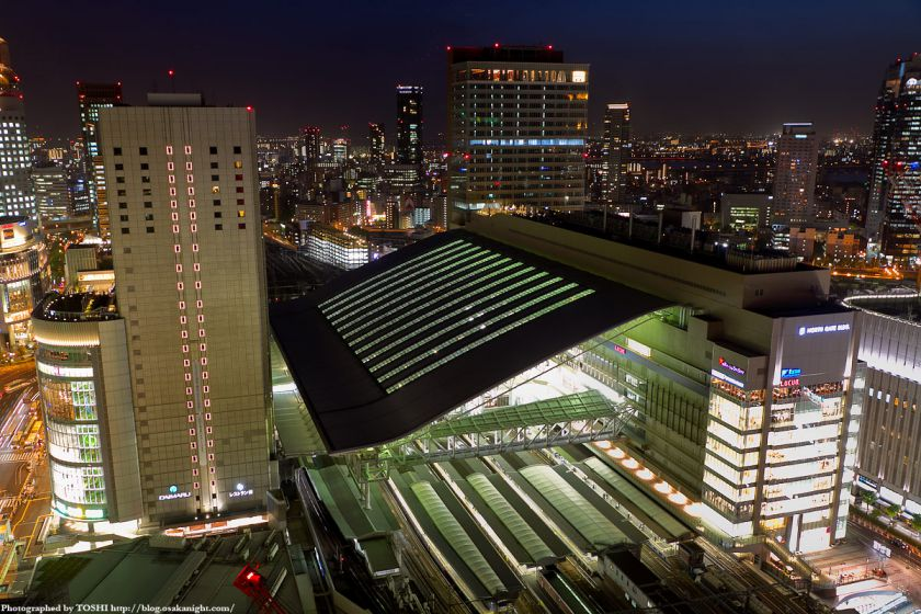 阪急グランドビルから見た大阪ステーションシティ 夜景
