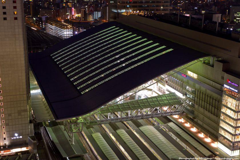 阪急グランドビルから見た大阪ステーションシティ ドーム屋根