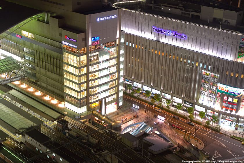阪急グランドビルから見た大阪ステーションシティ カリヨン広場