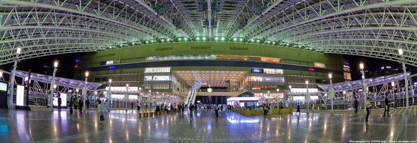 大阪ステーションシティ 時空の広場 魚眼パノラマ夜景