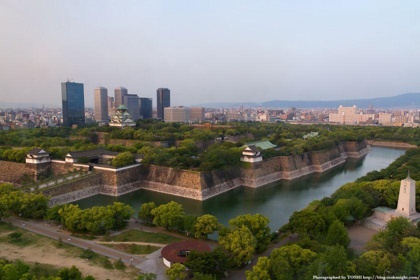 大阪城とOBP 夕景 01