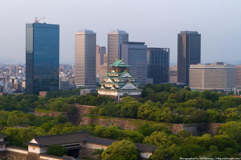 大阪城とOBP 夕景 03