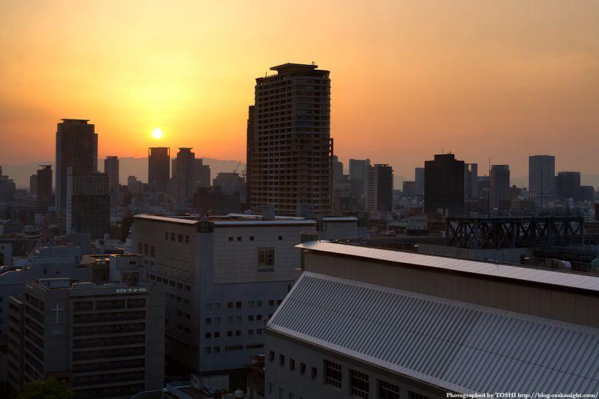 大阪都心夕景 from 大阪歴史博物館