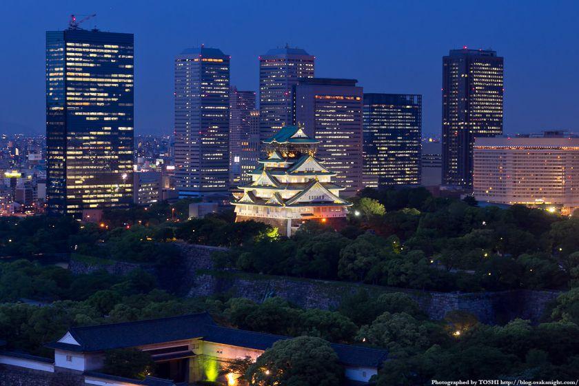 大阪城とOBP 夕景 05