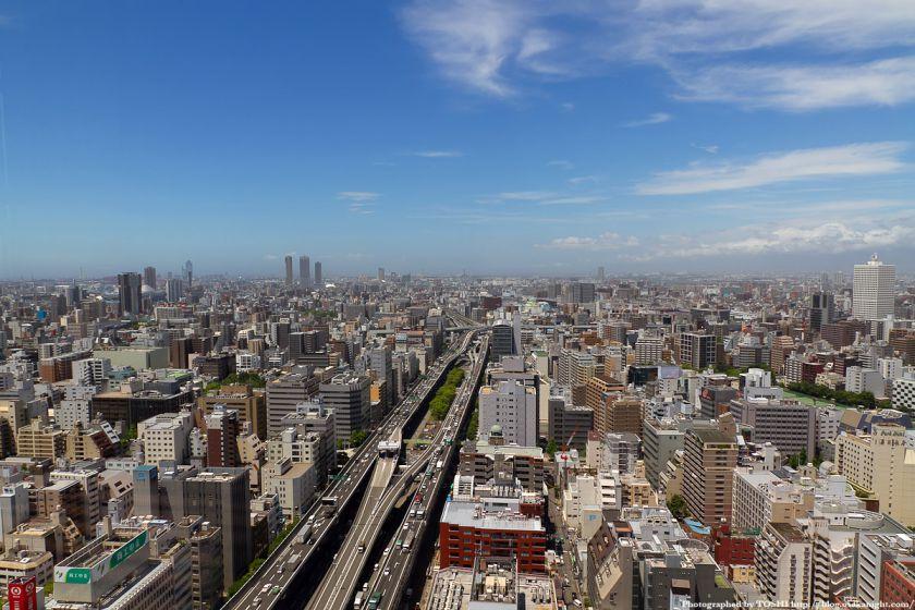オリックス本町ビル 展望テラスより大阪ベイエリア方面