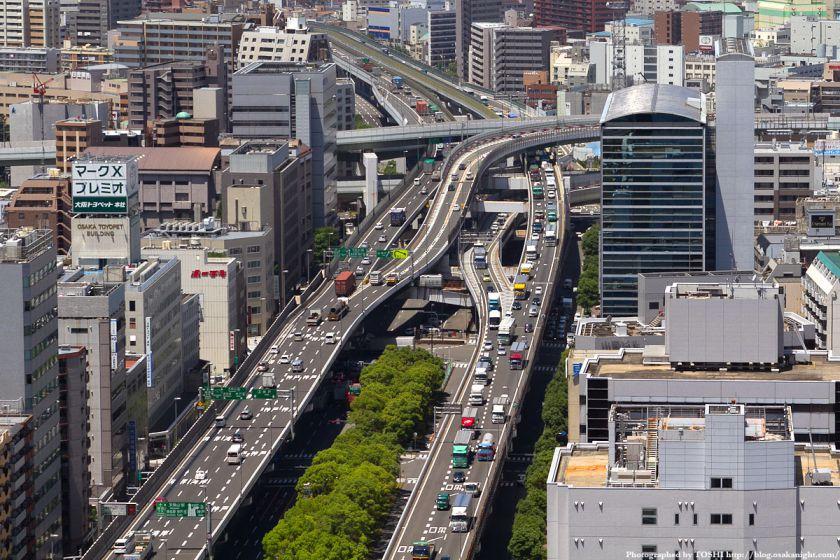 オリックス本町ビル 展望テラスより阪神高速阿波座ジャンクション