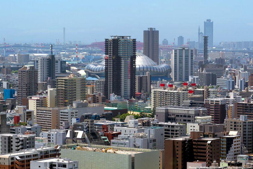 オリックス本町ビル 展望テラスより京セラドーム大阪方面