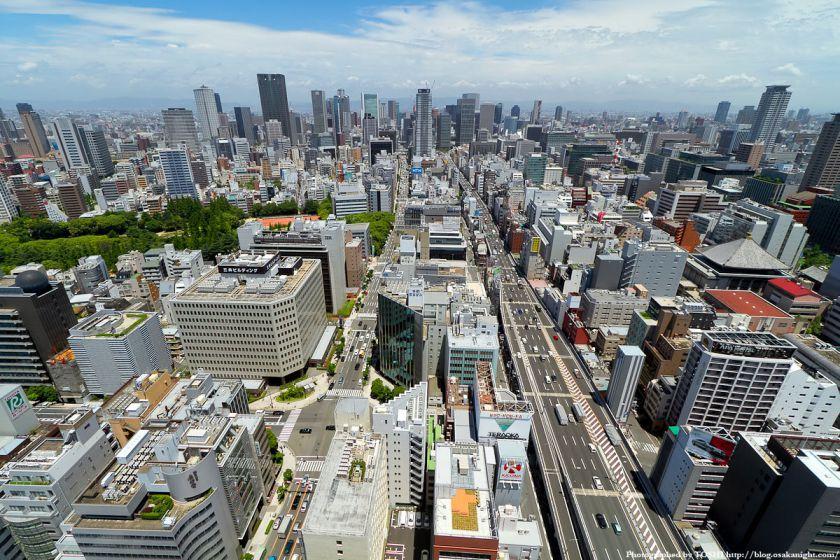 大阪都心の俯瞰(オリックス本町ビル 展望テラスより)