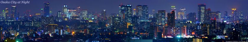 Osaka City at Night