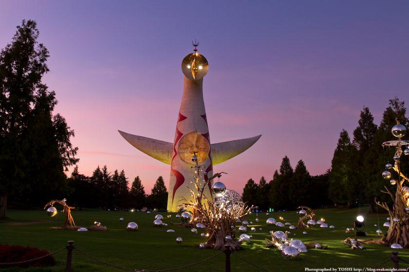 イルミナイト万博 太陽の塔 夕景