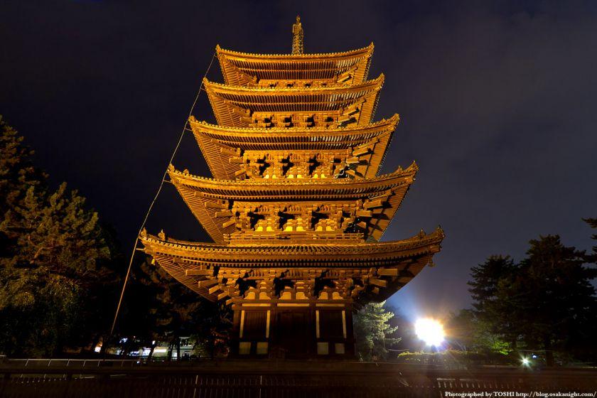 興福寺ライトアップ夜景 04