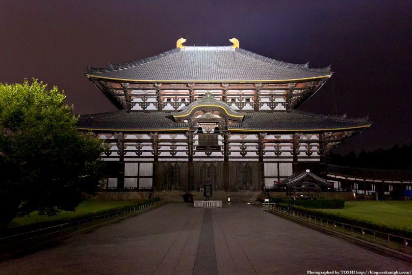 東大寺 大仏殿 ライトアップ夜景