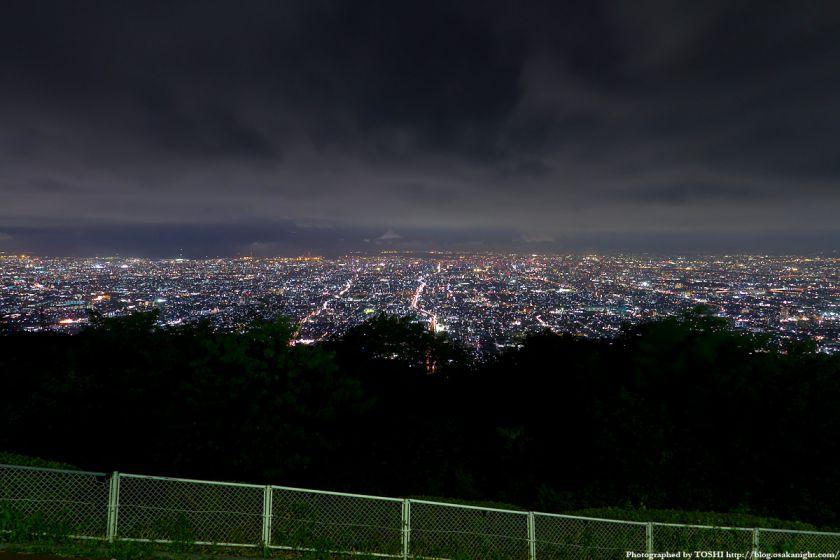 生駒山上遊園地からの大阪夜景 01