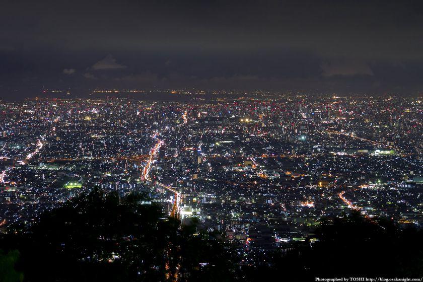 生駒山上遊園地からの大阪夜景 02