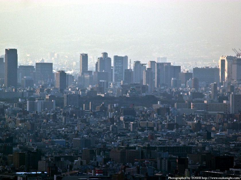 水呑地蔵尊から大阪方面 梅田周辺