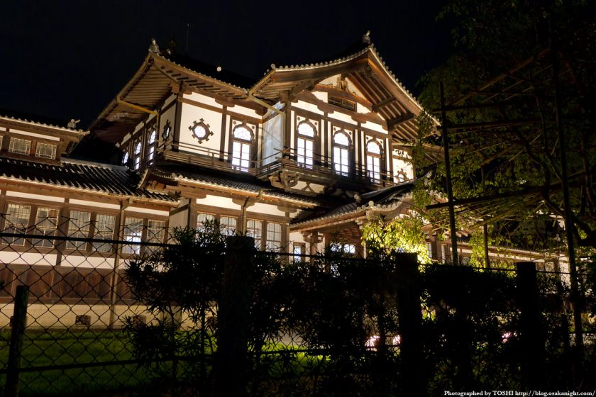 奈良国立博物館 仏教美術資料研究センター ライトアップ夜景