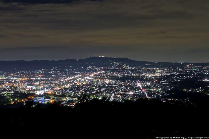 若草山から見た奈良の夜景 01