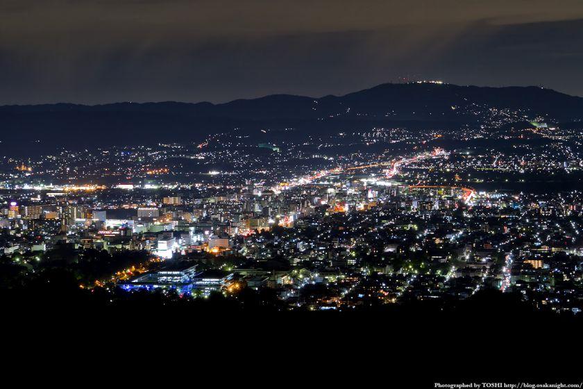 若草山から見た奈良の夜景 02