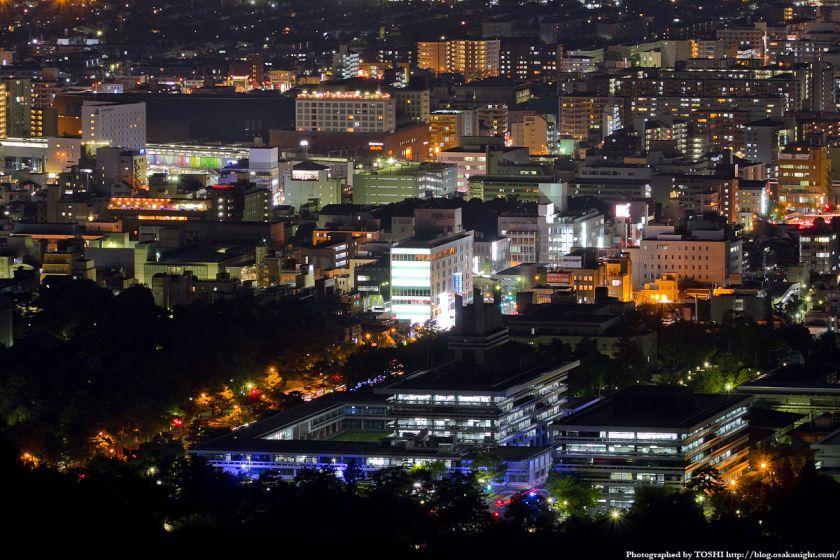 若草山から見た奈良駅周辺の夜景