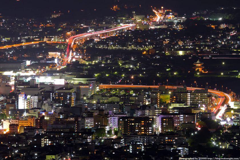 若草山から見た新大宮駅と朱雀門の夜景