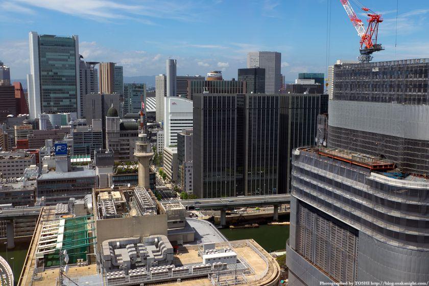 アパホテル大阪肥後橋駅前から見た梅田方面