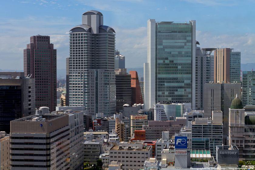 アパホテル大阪肥後橋駅前から見た西梅田