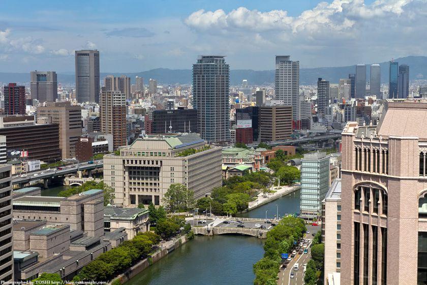 アパホテル大阪肥後橋駅前から見た中之島東部地区