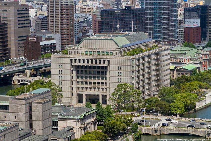 アパホテル大阪肥後橋駅前から見た大阪市役所