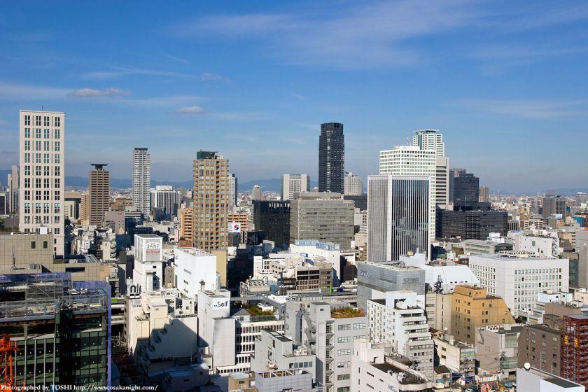 エプソン大阪ビルから見た淀屋橋、北浜