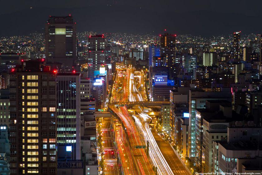阪神高速 東船場ジャンクションの夜景 01