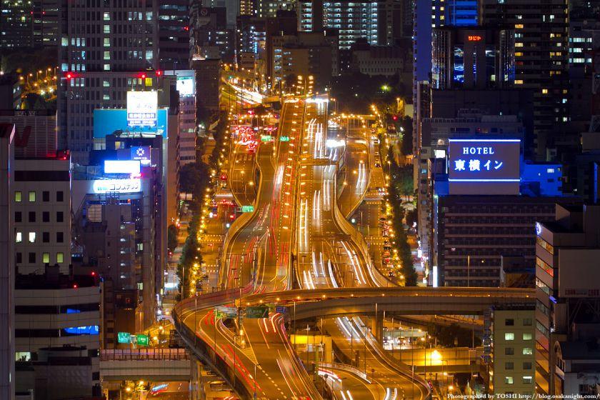 阪神高速 東船場ジャンクションの夜景 02