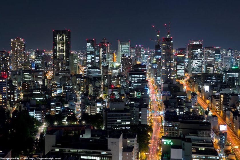 オリックス本町ビルから見た梅田方面の夜景 01