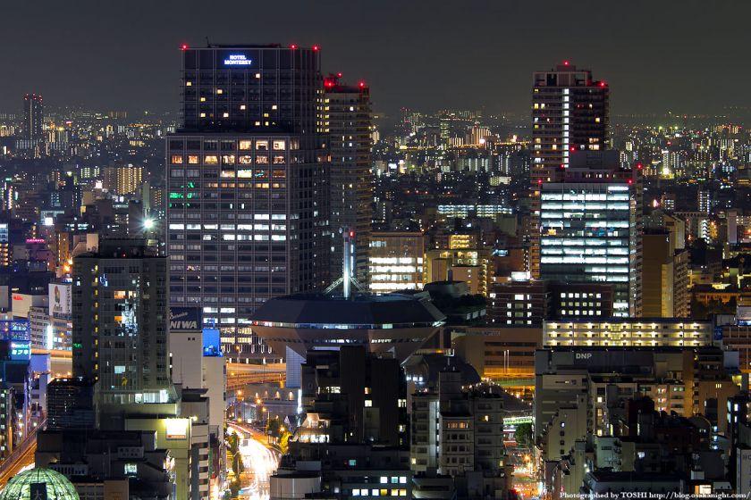 オリックス本町ビルから見たJR難波駅の夜景