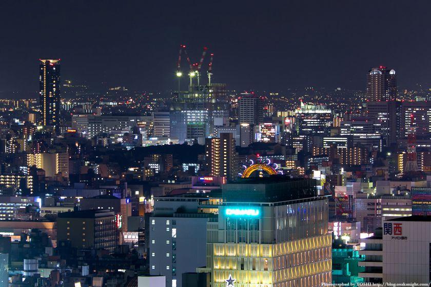 オリックス本町ビルから見た天王寺・阿倍野の夜景