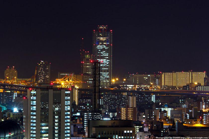 オリックス本町ビルから見た南港の夜景