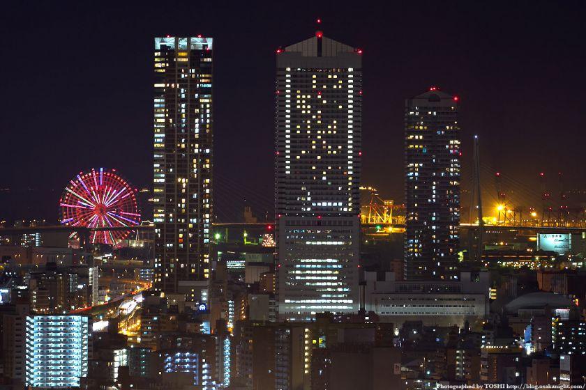 オリックス本町ビルから見た弁天町の夜景