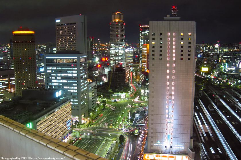 大阪駅前(梅田)の夜景 2002年頃