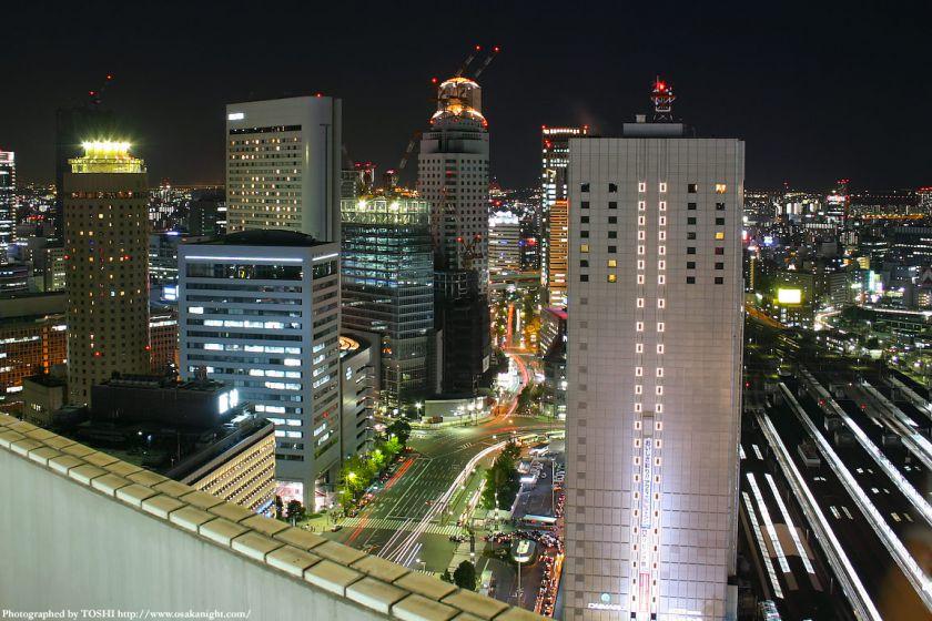 大阪駅前(梅田)の夜景 2003年頃