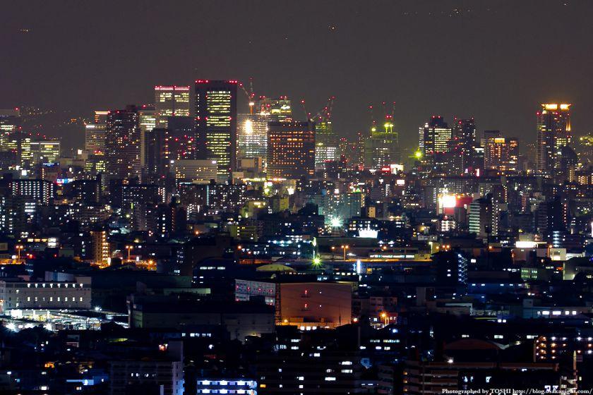 大阪の高層ビル群 夜景 2011 02