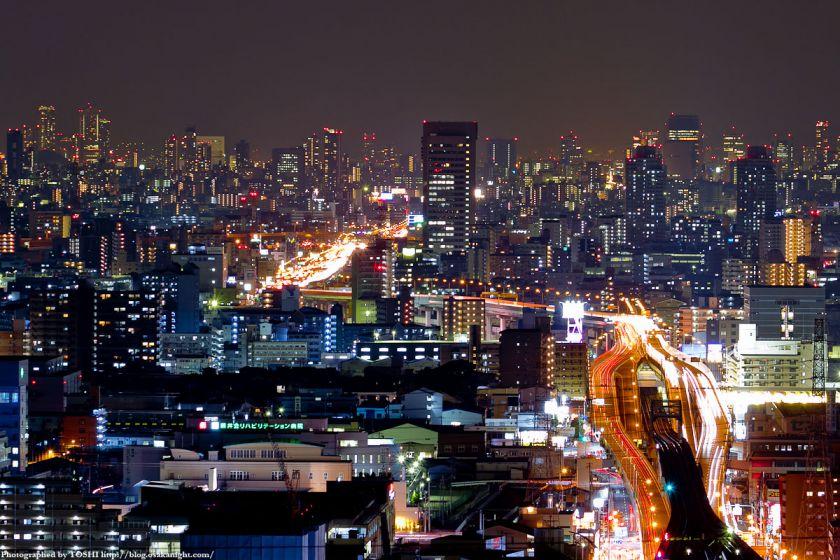 大阪の高層ビル群 夜景 2011 05