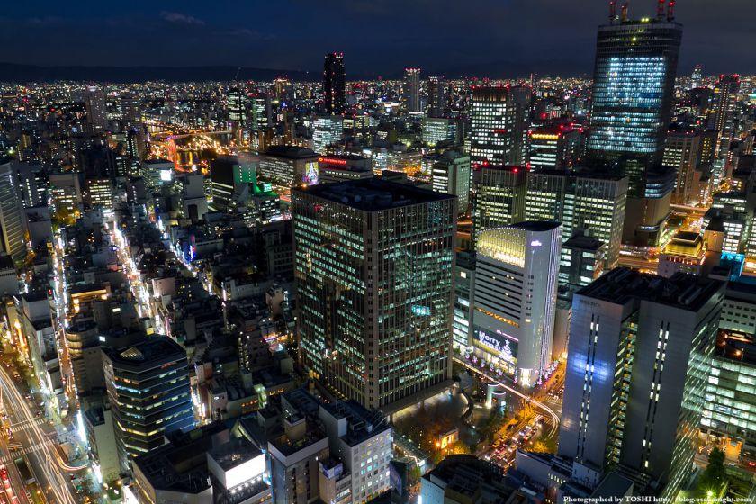 ブリーゼタワーからの大阪夜景 2011年12月 01